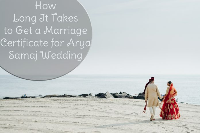 Get a Marriage Certificate for Arya Samaj Wedding